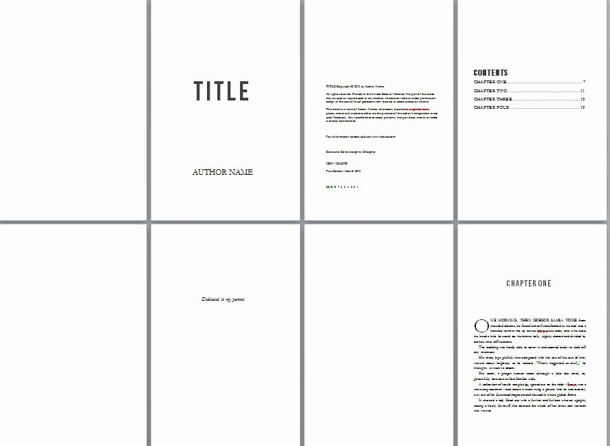 Free Book Design Templates and Tutorials for formatting In