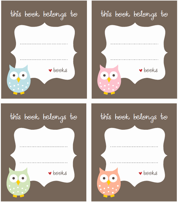 Free Bookplate Label Template