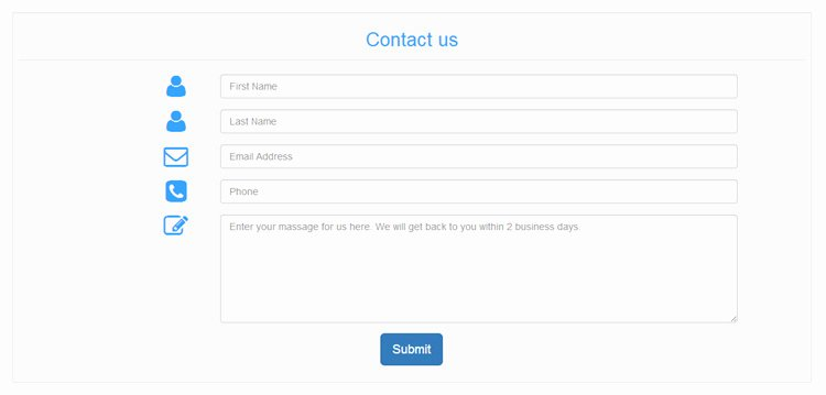 free bootstrap contact form templates without validation