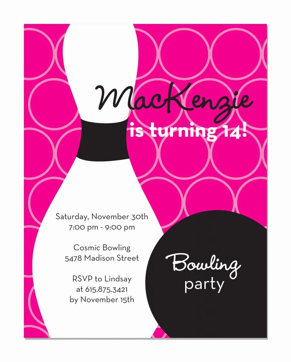 Free Bowling Birthday Invitations Printable
