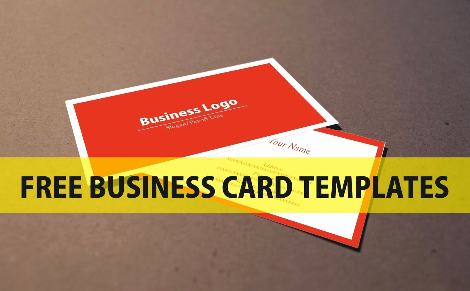 Free Business Card Template Download Coreldraw File A