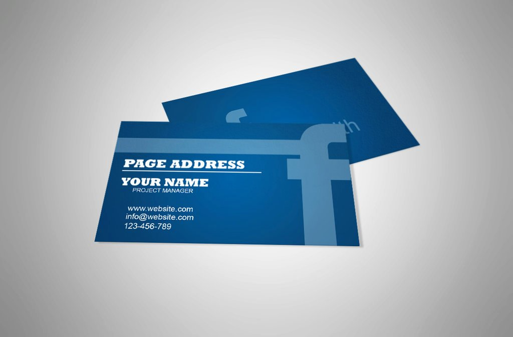 Free Business Card Template for Page by