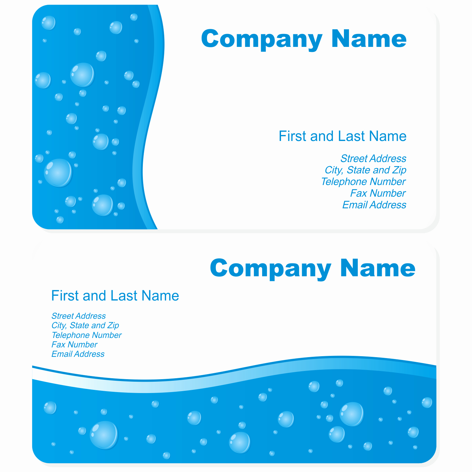 Free Business Card Template Illustrator