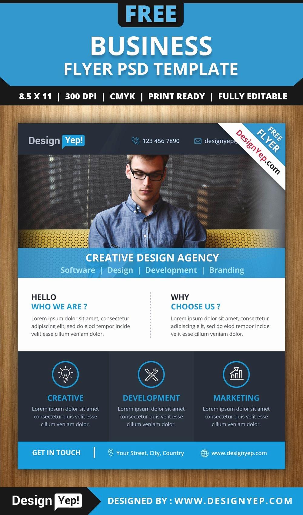 Free Business Flyer Psd Template 6666 Designyep