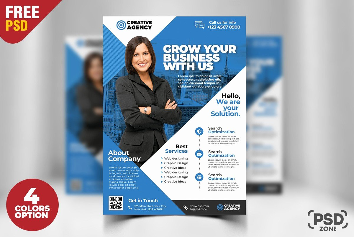 Free Business Flyer Psd Template Download Download Psd