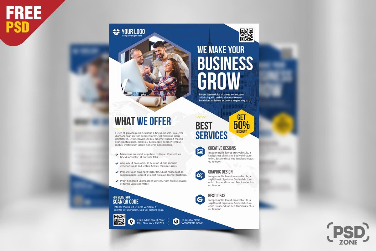 Free Business Flyer Template Psd Download Download Psd