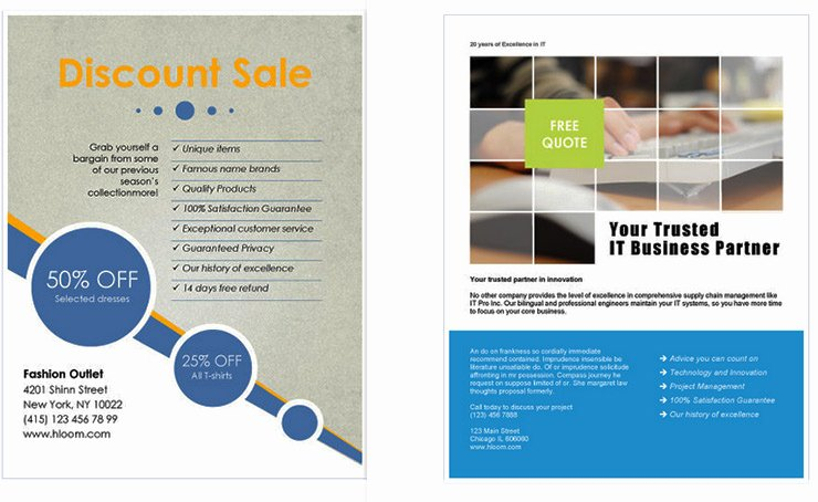 Free Business Flyer Templates for Microsoft Word Design A