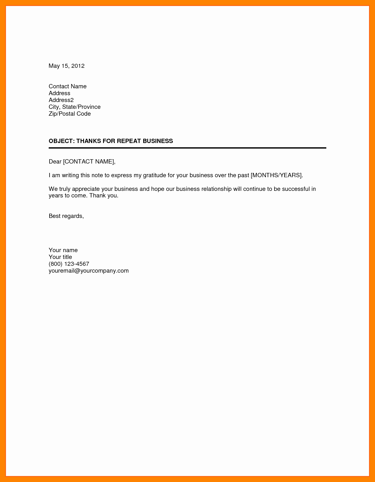 Free Business Letter Template Business Letter format