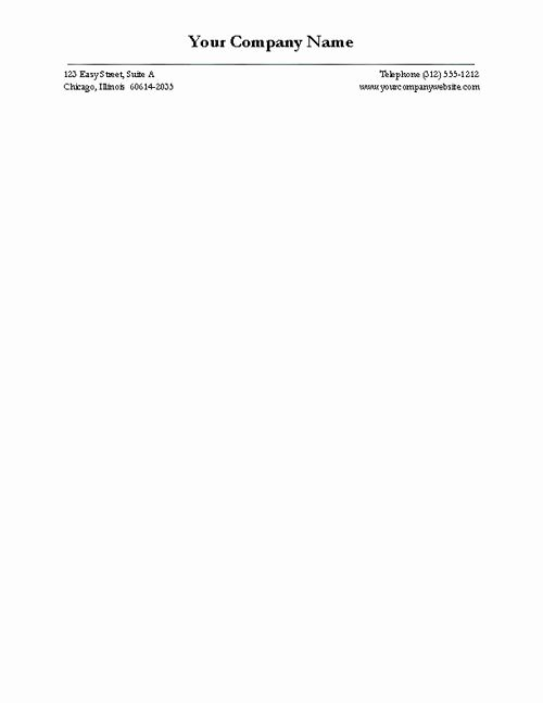 Free Business Letterhead Version Four