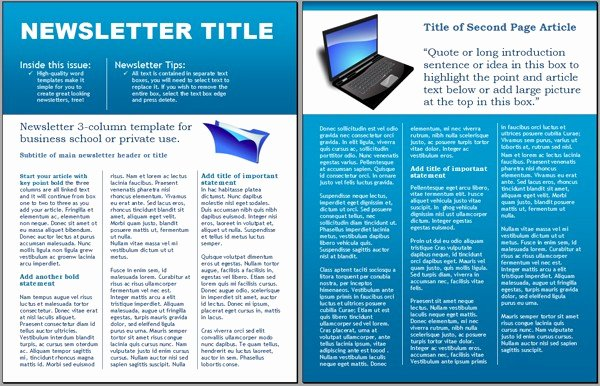 Free Business Newsletter Templates for Microsoft Word