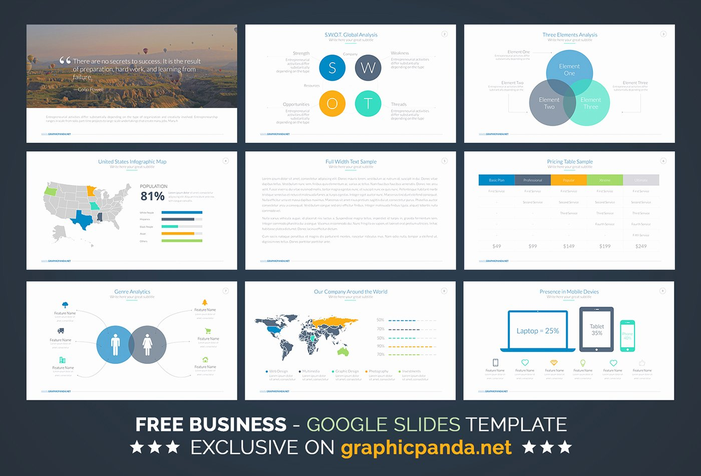 Free Business Plan Google Slides Template On Behance
