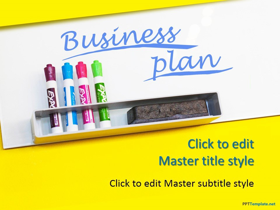 Free Business Plan Yellow Ppt Template