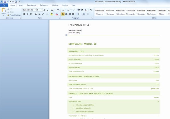 Free Business Proposal Template for Word