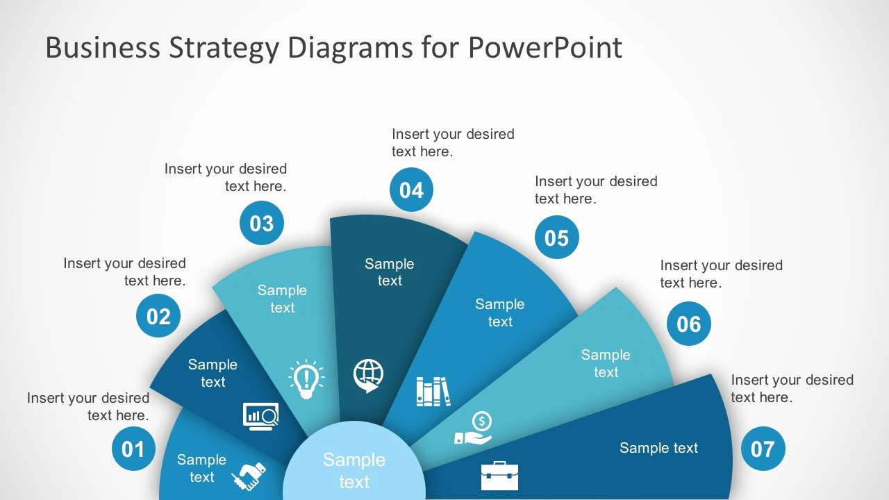 Free Business Strategy Diagram Powerpoint Slidemodel