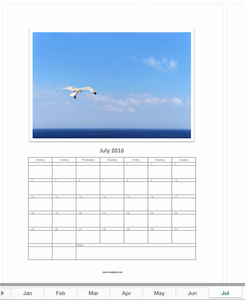 Free Calendar 2016