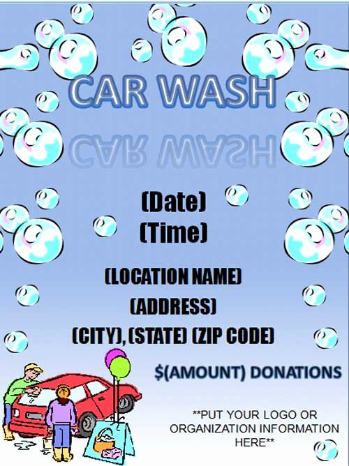 Free Car Wash Flyer Template Free Line Flyers