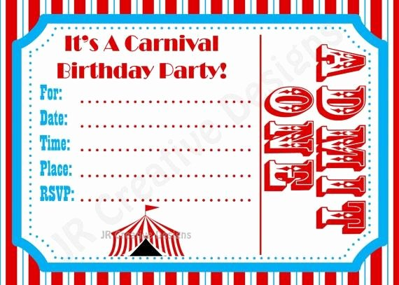 Free Carnival Birthday Invitations Template Google