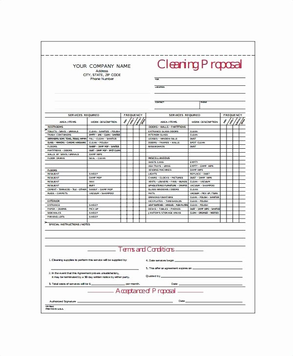 Free Carpet Cleaning Estimate Template