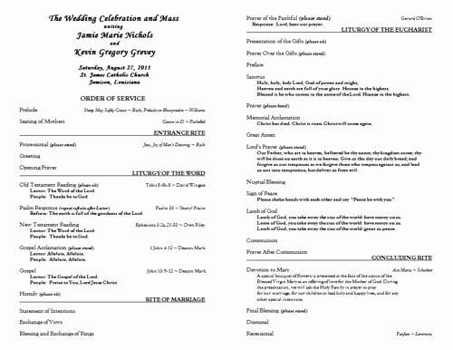Free Catholic Wedding Program Template 6