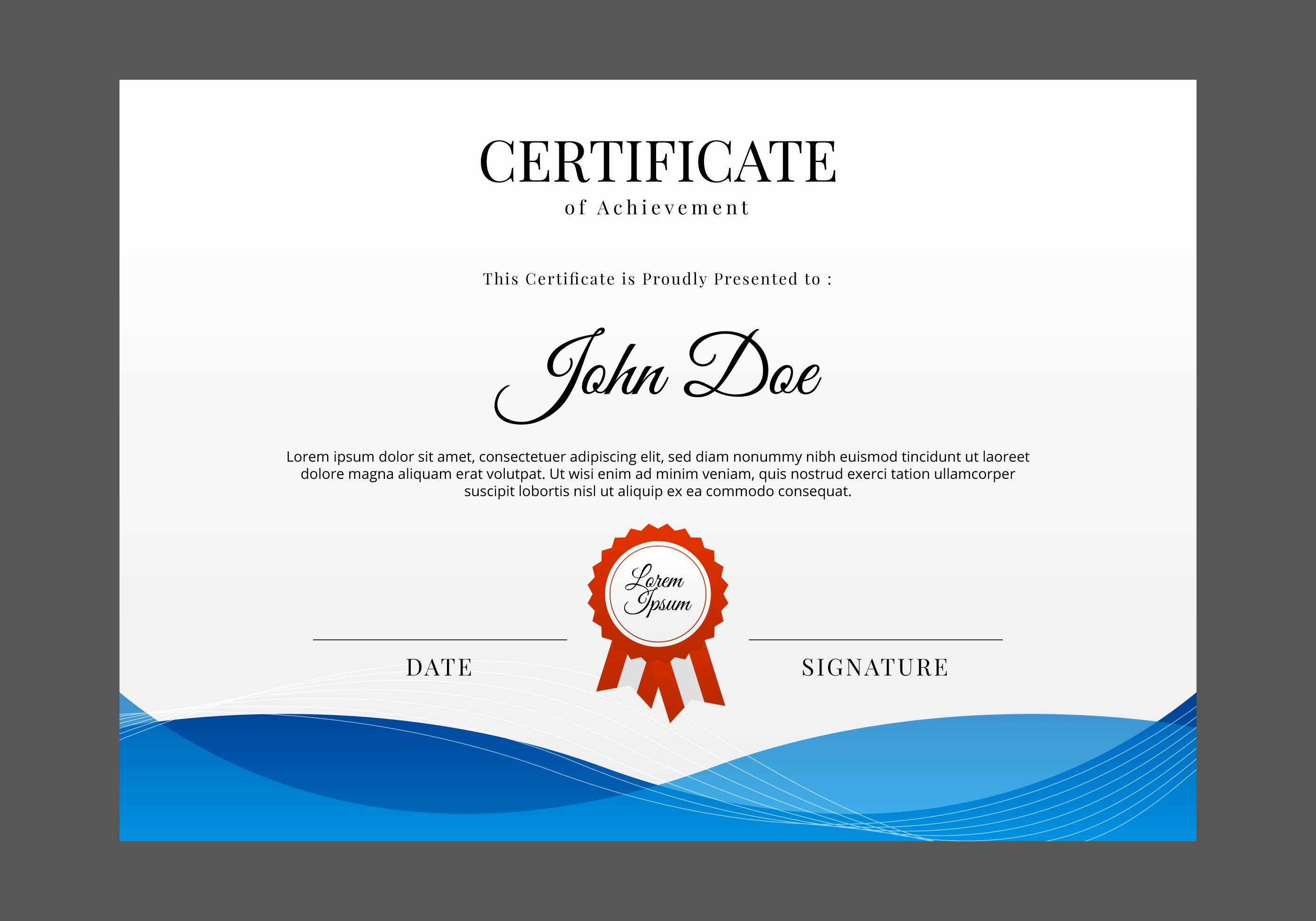 Free Certificate Template Vector Download Free Vector