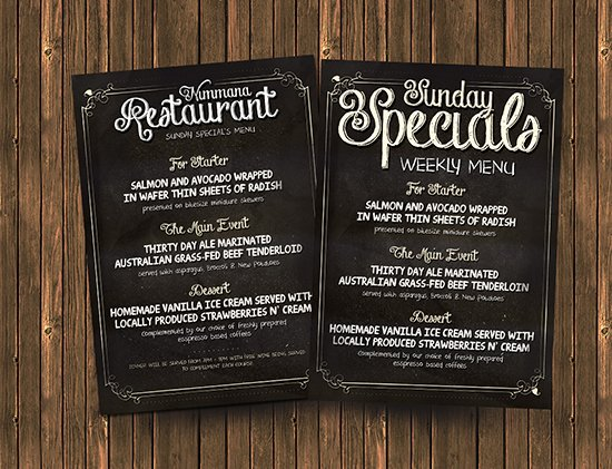 Free Chalk Board Menu Psd Flyer Template Flyerheroes