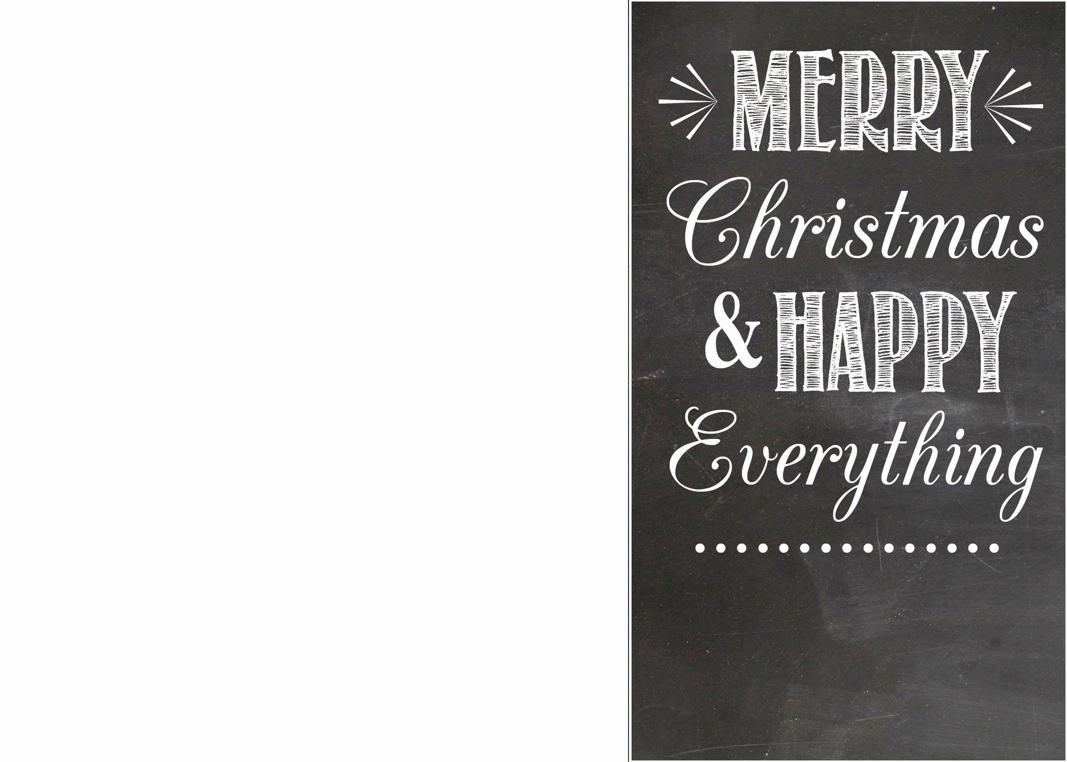 Free Chalkboard Christmas Card Templates