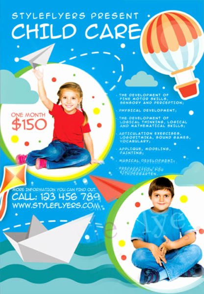 Free Child Care Psd Flyer Template Flyershitter