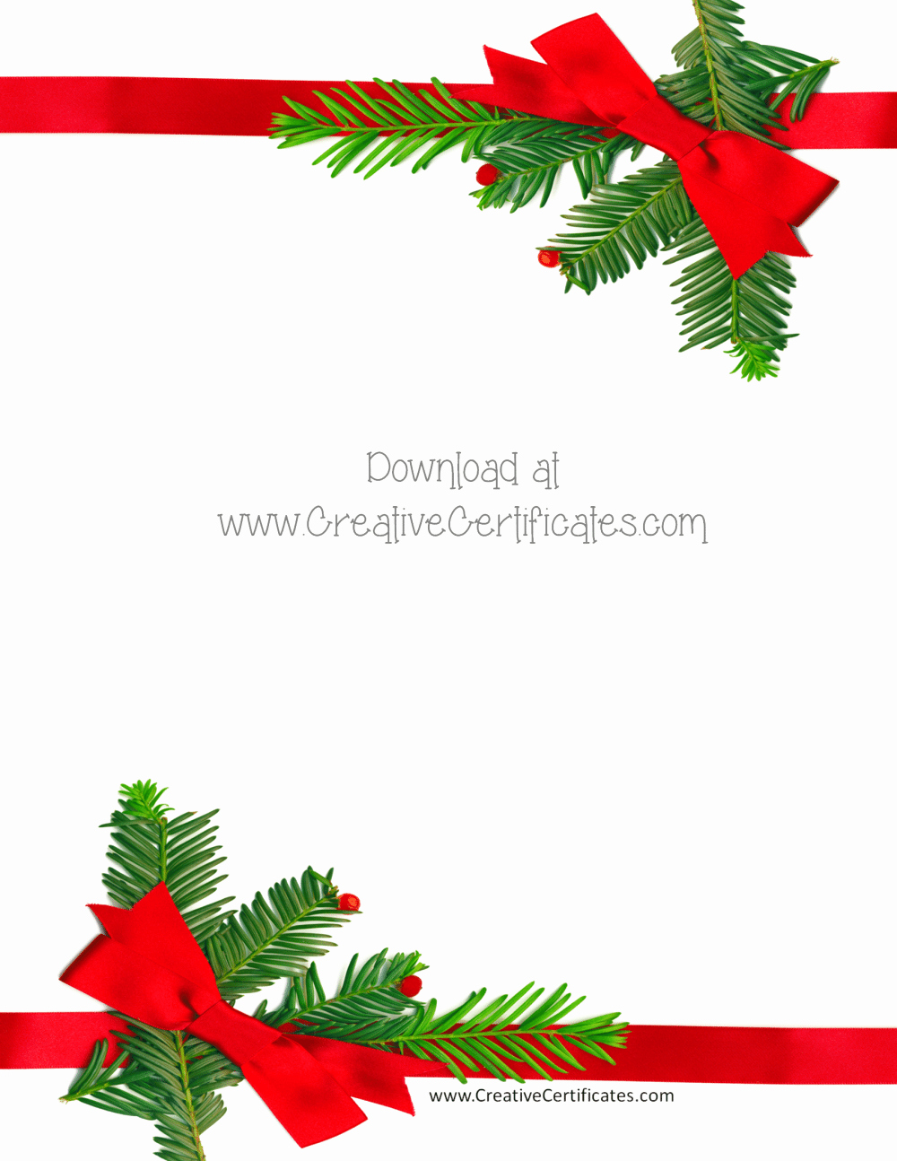 Free Christmas Border Templates Customize Line or
