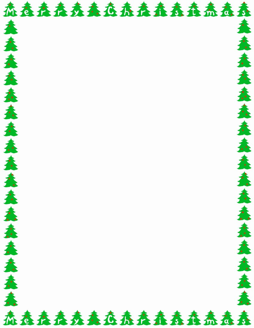 Free Christmas Borders Templates – Halloween & Holidays Wizard