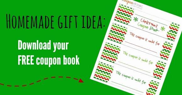 Free Christmas Coupon Book Printable Homemade Gift Idea