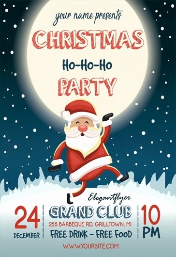 Free Christmas Flyer Template Yourweek Deca25e