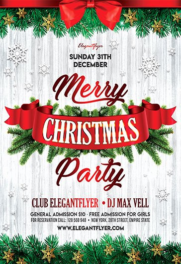 Free Christmas Flyer Templates In Psd