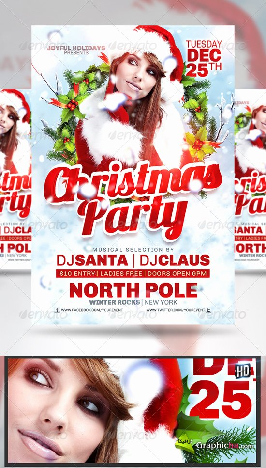 Free Christmas Party Flyer Template Freepsdfile