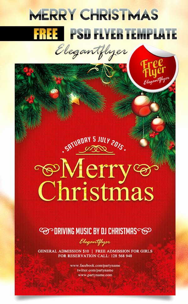 Free Christmas Party Flyer Templates Stockvault Blog