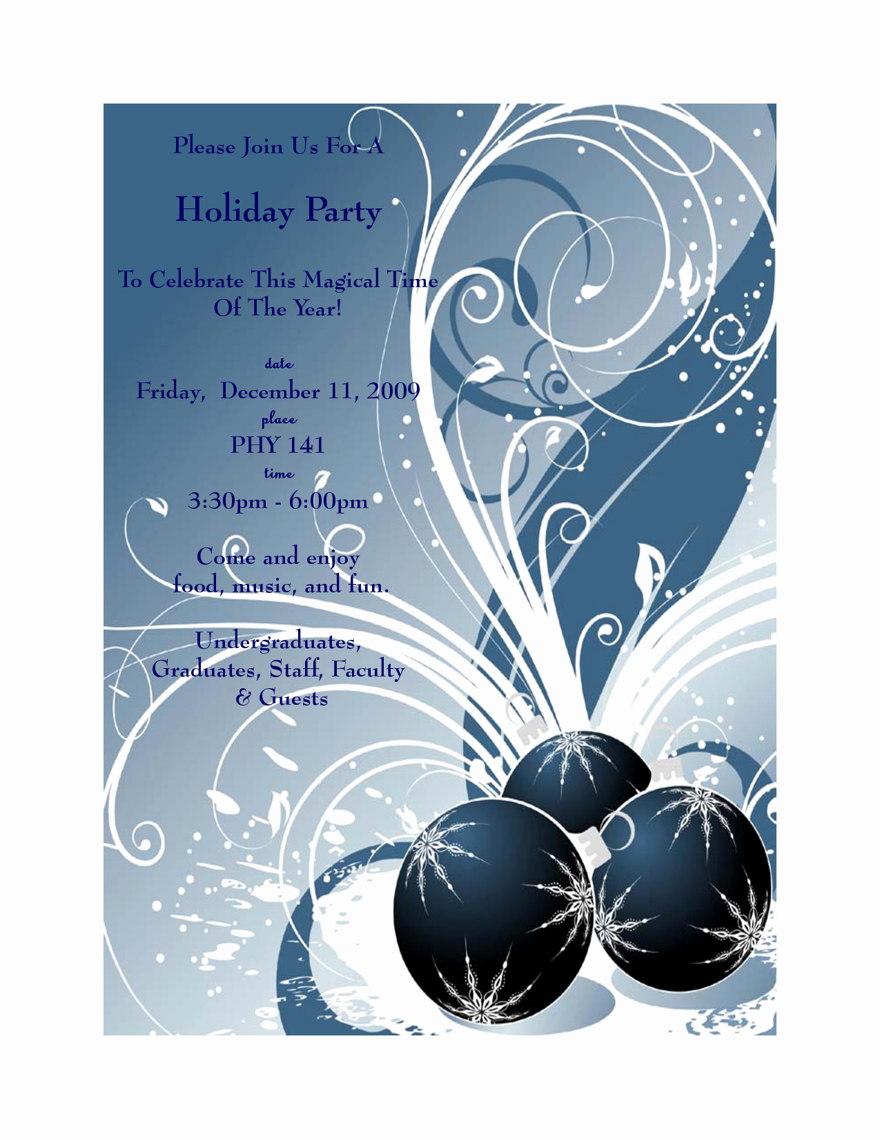 Free Christmas Party Invitation Clipart – 101 Clip Art