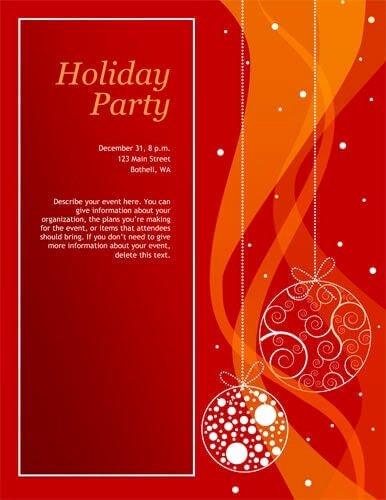 Free Christmas Party Invitations Templates Invitation