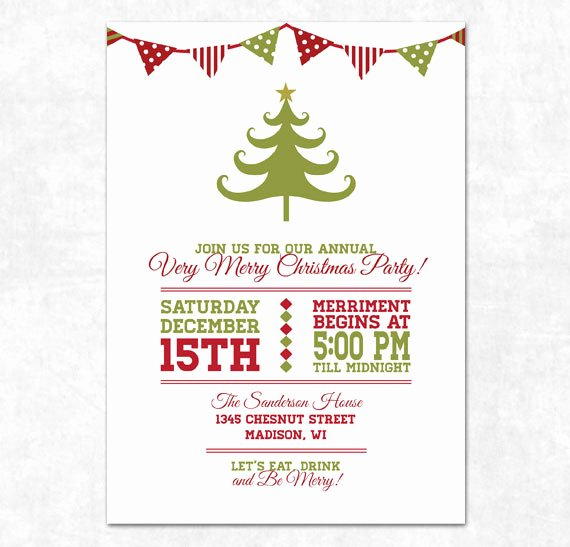 Free Christmas Printable Invitation Templates – Christmas