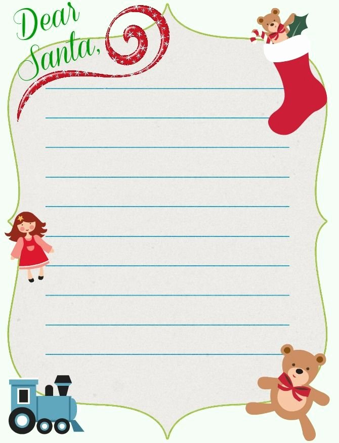 Free Christmas Printable Santa Letter Template Plus today