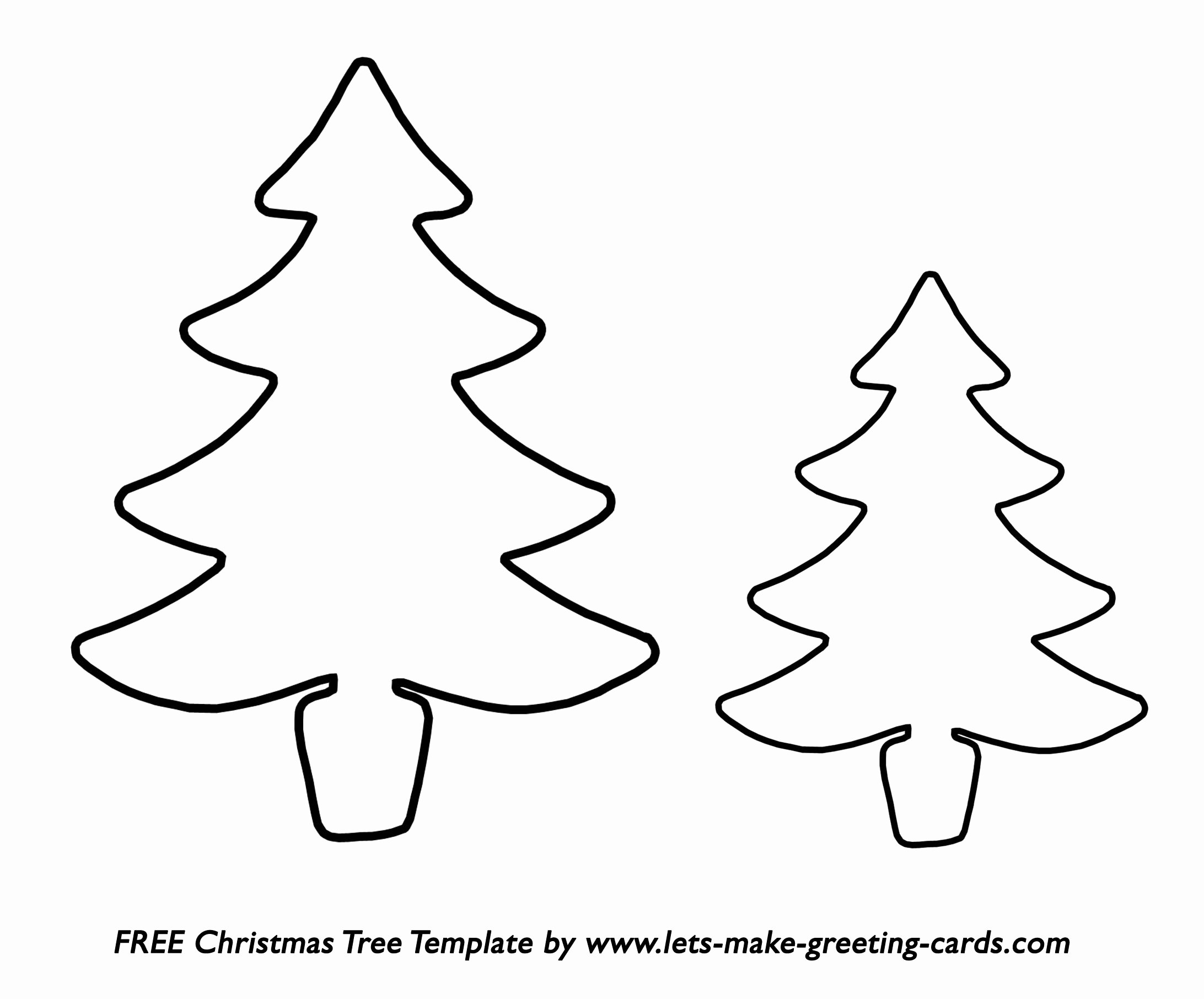 Free Christmas Tree Template Free Christmas Card Ideas