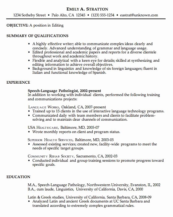 Free Chronological Resume Examples