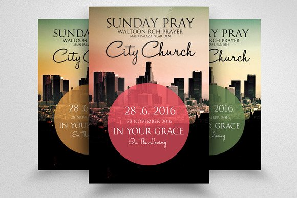 Free Church Revival Flyer Template Editable Downloads
