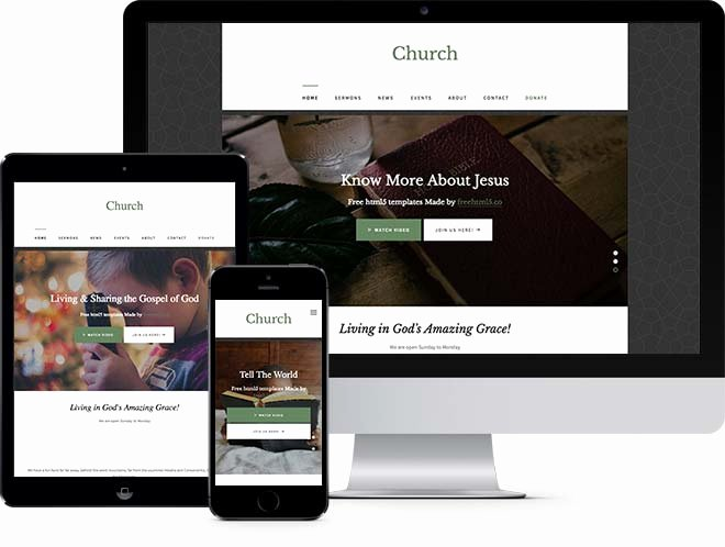 Free Church Website Templates Image Collections Template