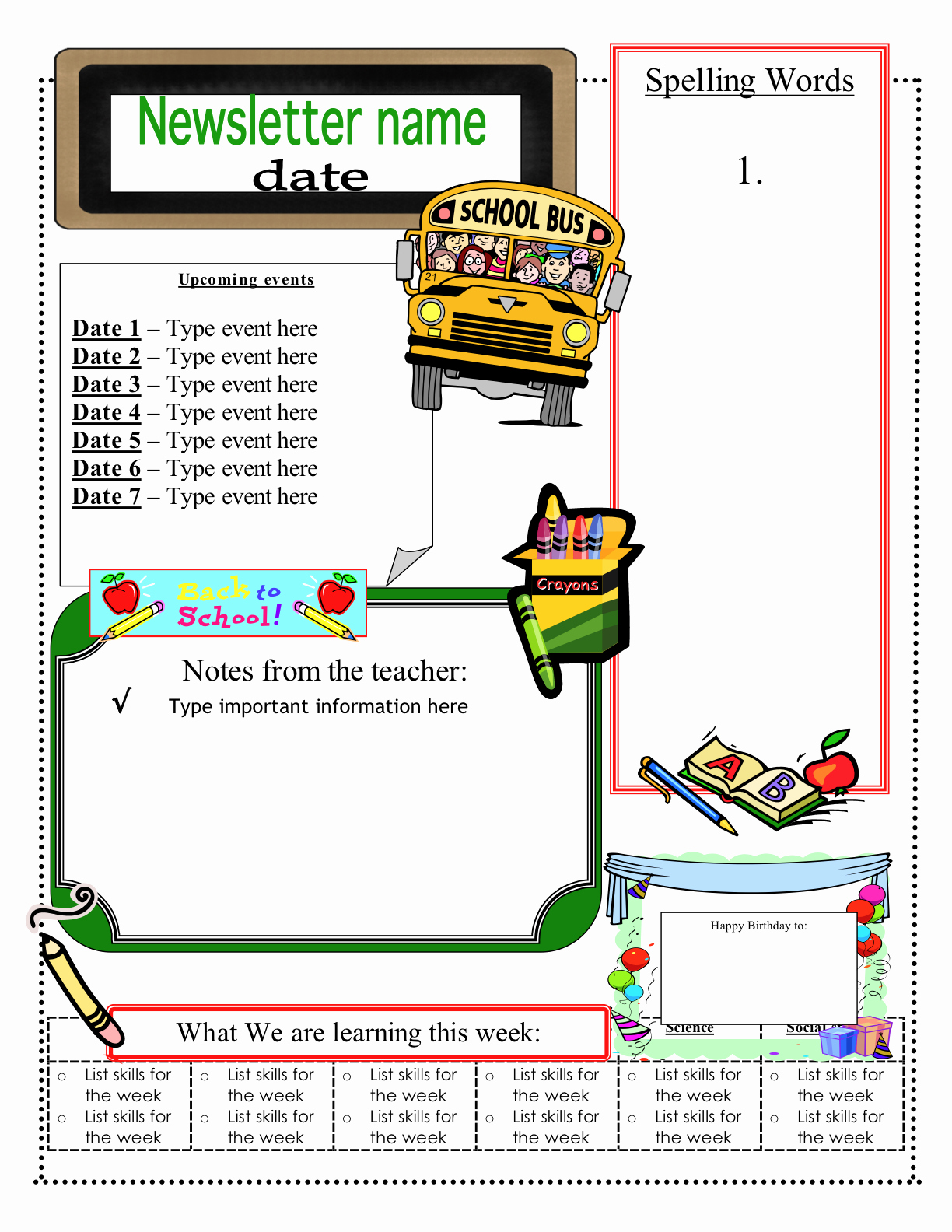 Free Classroom Newsletter Templates Check Out these Eight