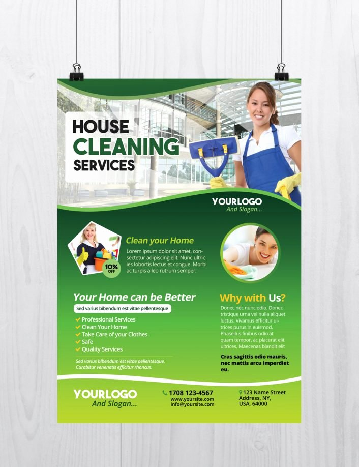 Free Cleaning Services Template Flyer Psd Flyershitter