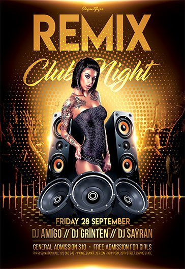 Free Nightclub Flyer Template Latter Example Template