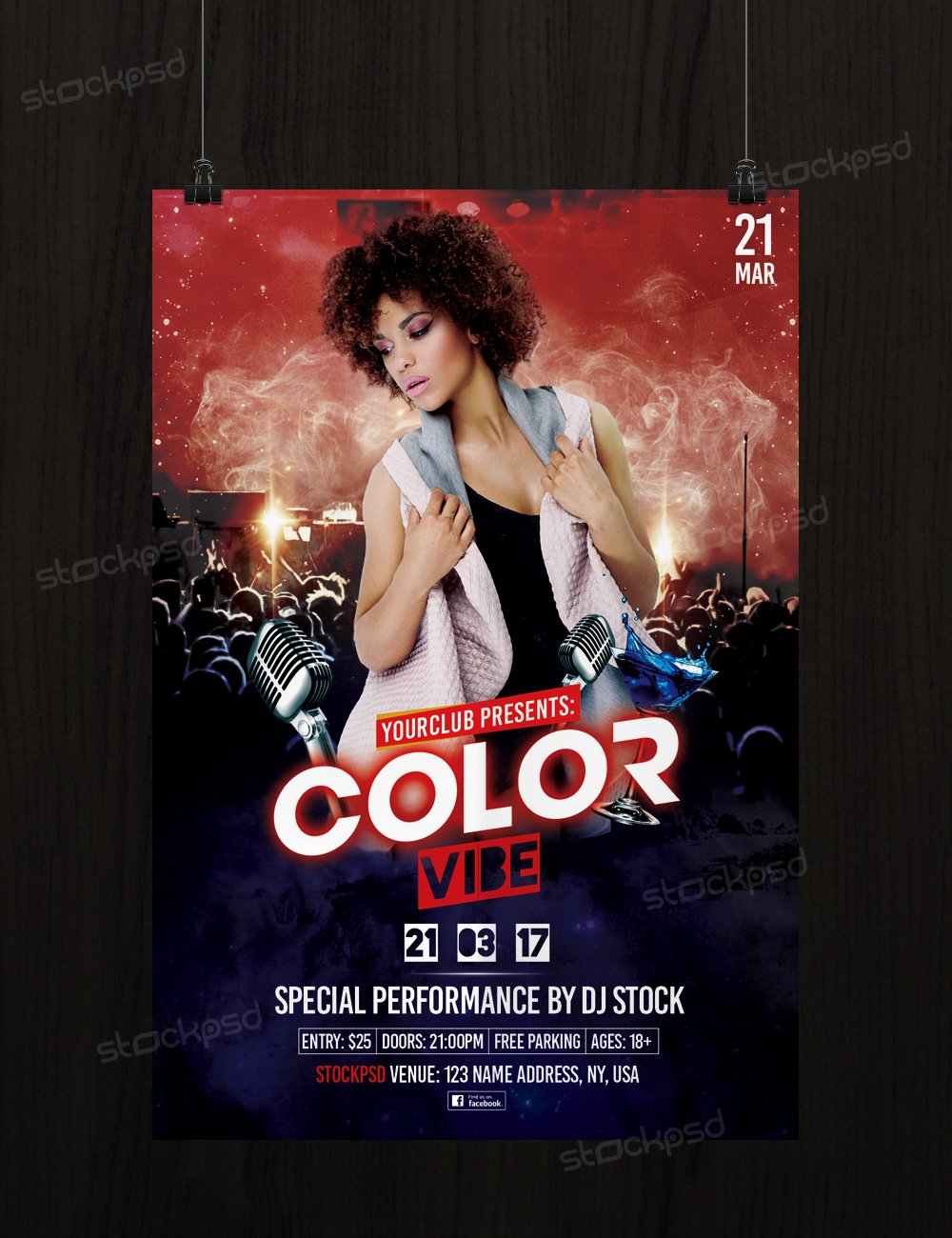 Free Color Vibe – Psd Party Free Flyer Template Shop