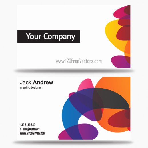 Free Colorful Business Card Templates Vector Eps Free