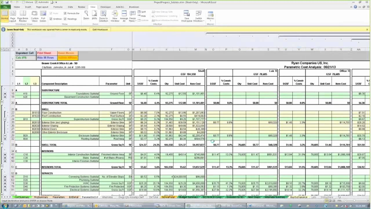 Free Construction Cost Estimate Template Excel