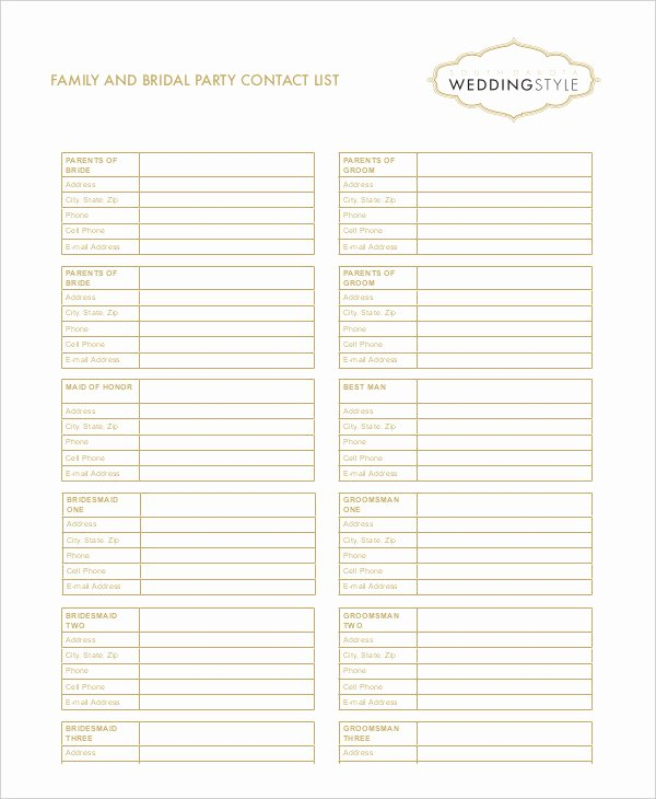 Free Contact List Template 10 Free Word Pdf Documents