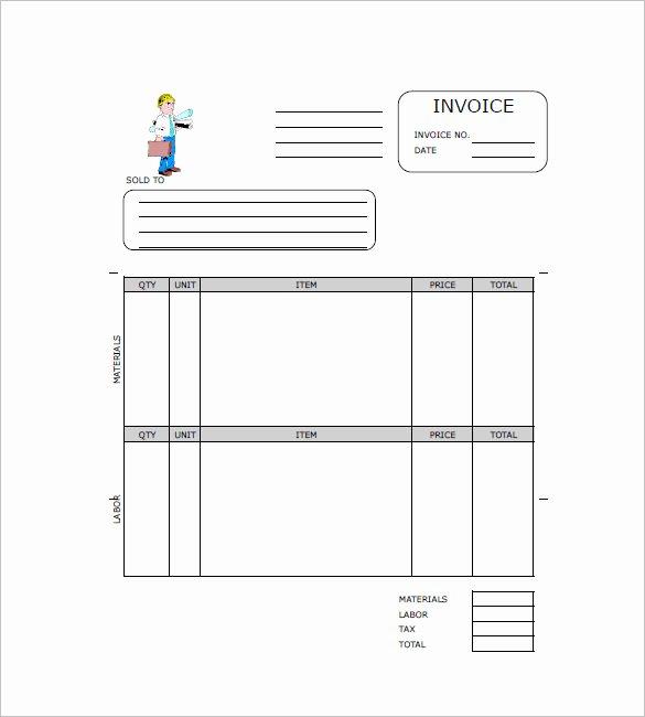 Free Contractor Invoice Templates